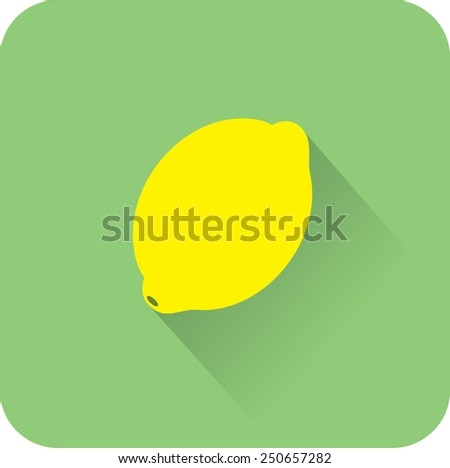 Lemon icon. Flat design style modern vector illustration - stock vector