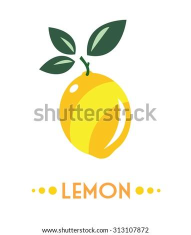 lemon isolated - stock vector