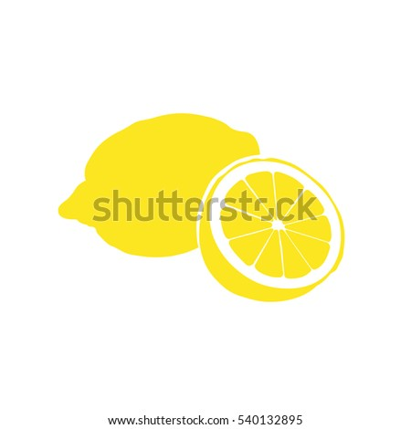 lemon vector icon citrus sign lemonade stock vector royalty free