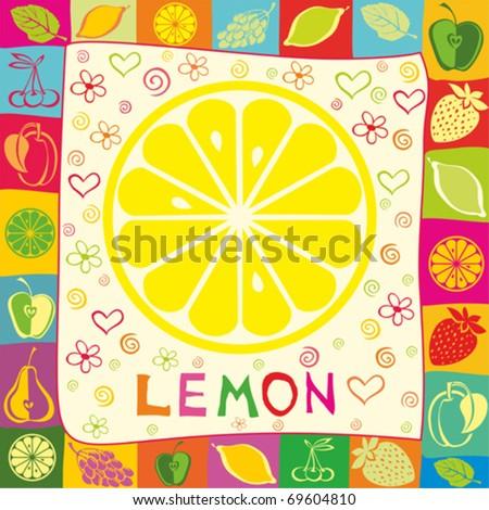 lemon vector illustration - stock vector
