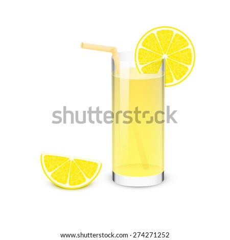 Lemonade Drink - stock vector