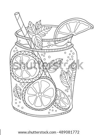 Navy blue mason jar coloring page coloring pages for Mason jar coloring page