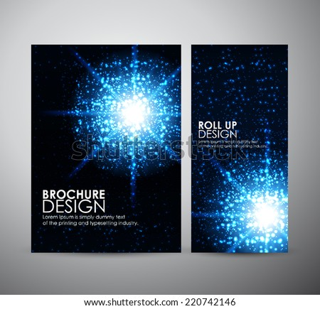 Lens flare vector background, Brochure business design template or roll up.  - stock vector