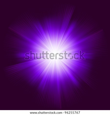 Lens flare vector background. EPS 8 vector file included - stock vector