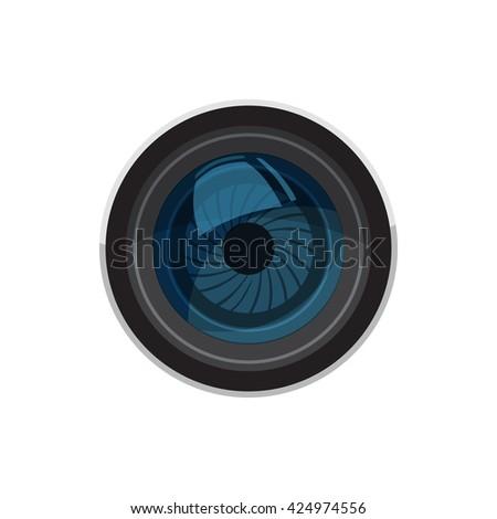 Lens icon - stock vector