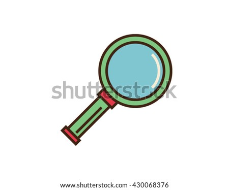 Lens icon. Search concept. Magnifying glass vector sign isolated on whte background
