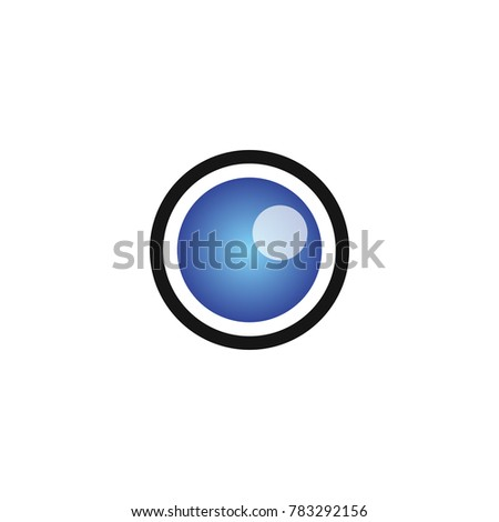 Lens of cctv camera video surveillance vector