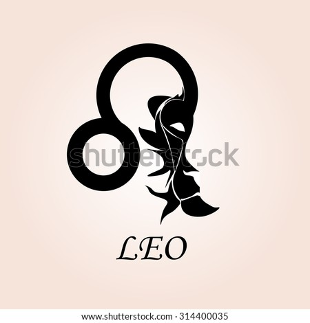 Leo Zodiac Sign Stock Vector (Royalty Free) 314400035 ...
