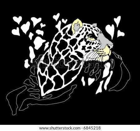 leopard - stock vector