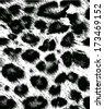 Leopard / cheetah skin seamless pattern, animal background, vector illustration  - stock vector