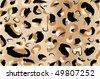 leopard fur illustration - stock vector