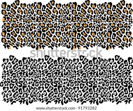 Leopard fur-vector