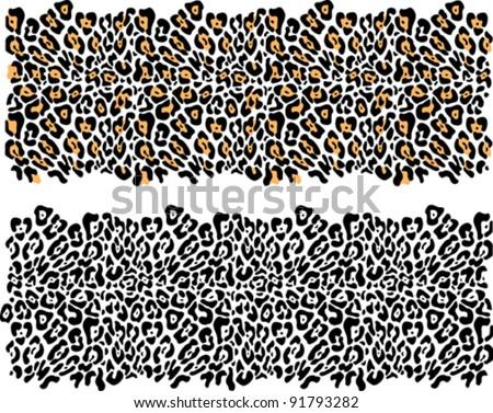 Leopard fur-vector - stock vector