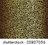 Leopard or Cheetah Skin Vector, seamless pattern - stock vector