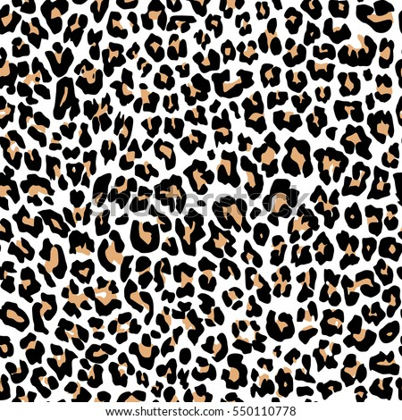 Leopard Pattern Texture Repeating Seamless Orange Stock ...