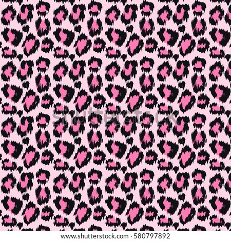 Leopard skin seamless pattern in pink color