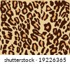 Leopard Skin vector, seamless, 3 layers background, brown spots, orange spots - stock vector