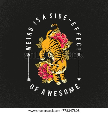 Awesome slogan typography graphic print fashion drawing for t