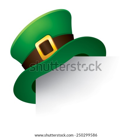 Leprechaun hat - stock vector