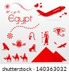 let's go to Egypt - stock vector