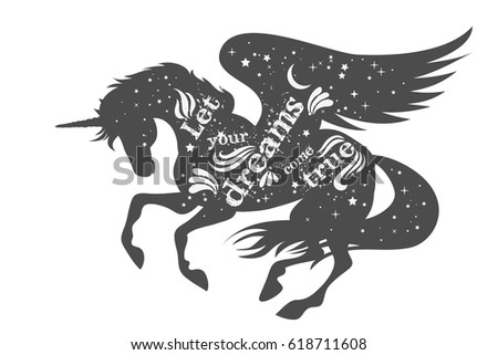 let your dreams come true magic stock vector 618711608