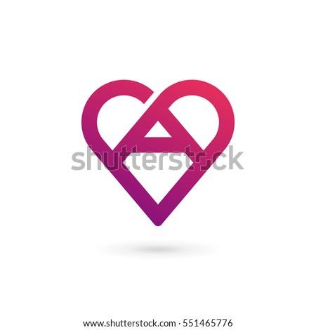 heart logo stock images royaltyfree images amp vectors