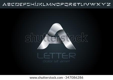 Letter A Logo, alphabet logo, vector logo, logo design, logo template. - stock vector