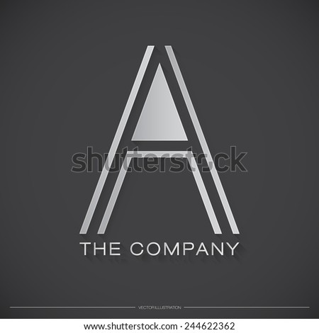 Letter A Logo, Icon, Design Template Elements for Your Company | EPS10 Vector - stock vector