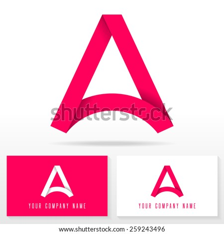 Letter A logo icon design template elements - vector sign. Business card templates.  - stock vector