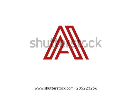Letter A Logo vector alphabet design element template. ABC concept type as logotype. Typography icon line art - stock vector