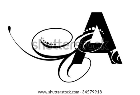 Letter A - Modern Initial - stock vector
