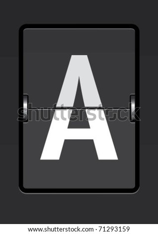 letter  a on a mechanical timetable - stock vector