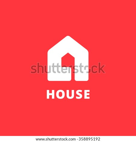 Letter A real estate house logo icon design template elements - stock vector
