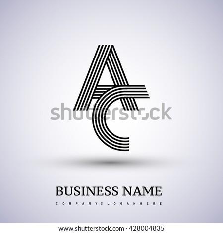 Letter Ac Linked Logo Design Elegant Stock Vector 428004835 ...