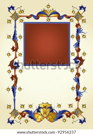letter and paper Illumination - stock vector