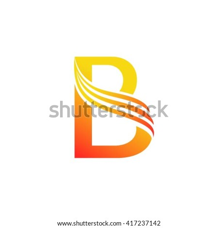 Letter b logo design template stock vector 417237142 shutterstock letter b logo design template pronofoot35fo Image collections