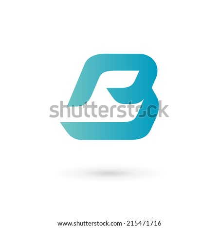 Letter B logo icon design template elements. Vector color sign. - stock vector