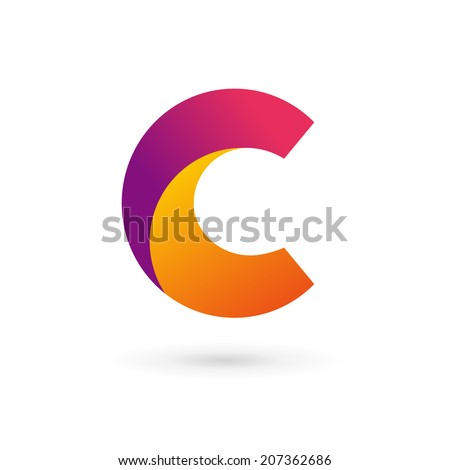 Letter C logo icon design template elements. Vector color sign. - stock vector