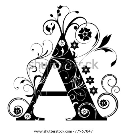 Letter Capital A - stock vector