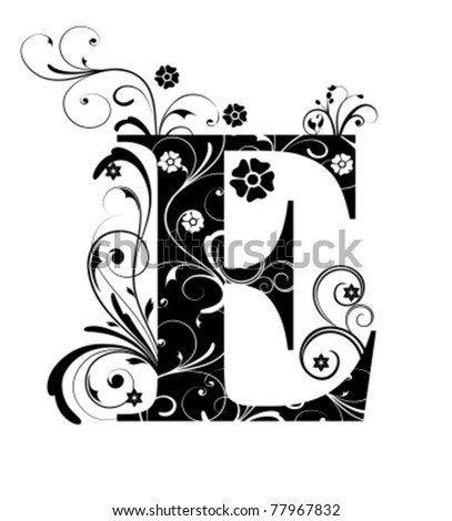Letter Capital E - stock vector