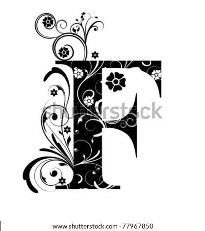 Letter Capital F - stock vector