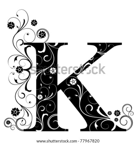 Letter Capital K - stock vector