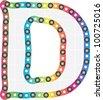letter d - stock vector
