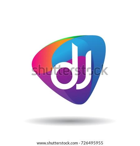 Letter Dj Logo Colorful Splash Background Stock Vector Hd Royalty Rh Shutterstock Com Wallpaper Desktop