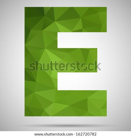 Letter E - stock vector