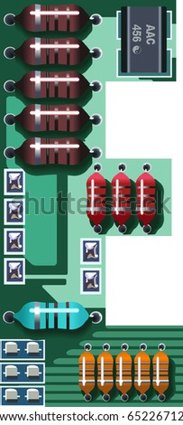 letter e circuit board - stock vector