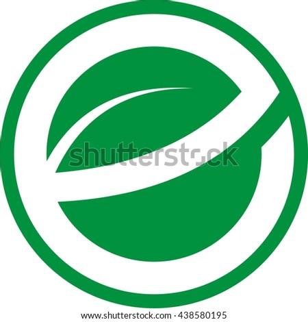Letter e leave logo design stock photo photo vector illustration letter e leave logo design altavistaventures Images