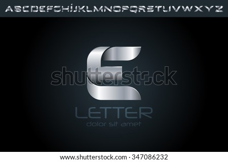 Letter E Logo, alphabet logo, vector logo, logo design, logo template. - stock vector