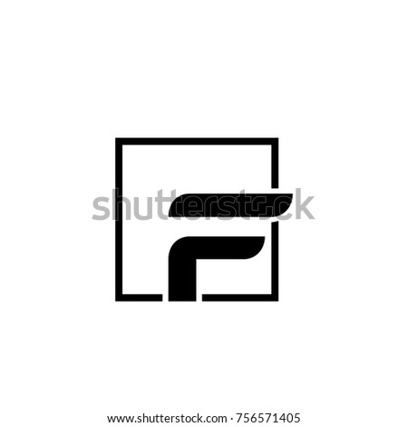 Letter f logo icon design template stock vector 756571405 shutterstock letter f logo icon design template elements black hexagon and modern style maxwellsz
