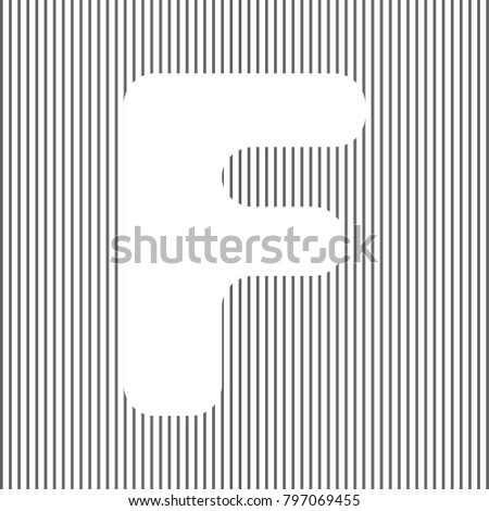 Letter f sign design template element stock photo photo vector letter f sign design template element vector white icon on grayish striped background maxwellsz
